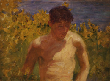 Johnny Jackett.  Henry Scott Tuke R.A. (1858-1929). Oil On Panel.